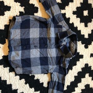 Baby Gap plaid flannel button up